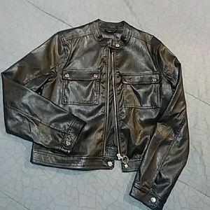 Jackets & Blazers - Faux leather moto jacket